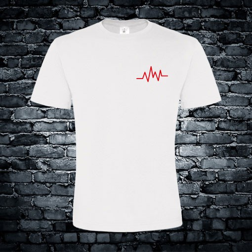 Muziek hartslag T-shirt